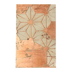 Wood and Copper Leaf - Ready to hang, carved wooden wall art. Handcrafted wooden base with rustically applied copper leafing. Add a gorgeous, warm glow to any space with this one of kind piece.