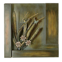 Home Decorators Collection - Metal Floral Sculpture Panel - Add depth and a touch of nature to your walls with the Metal Floral Sculpture Panel. The realistic design of this home accent will add new interest to any room. Dress up your home's decor and order today.Quality-crafted of metal in an antique brown finish.A fantastic addition to most any decorating style.