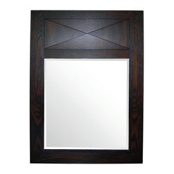 Pegasus - Tao Mirror in Ash Finish - F10AE00215A - Manufacturer SKU: F10AE00215A. 1 in. frame thickness. 24 in. W x 34 in. H (17 lbs.)