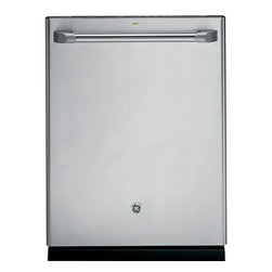 GE Cafe Series Stainless Interior Built-In Dishwasher with Hidden Controls -
