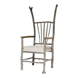 ecofirstart - Driftwood Kennebec - Maine idea. This organically pleasing chair is made from driftwood found along the coast of Maine. Rustic yet refined, it's a natural choice for your beach house.