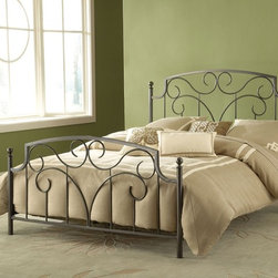 Hillsdale Furniture - Hillsdale Cartwright King Metal Bed in Magnesium Pewter - Dynamic and sophisticated in design  the Carthwright Bed is a crowd-pleaser with its pewter finish and organic curvilinear decoration. Ideal for elevating simple bedroom décor  the Cartwright is available in full  queen  and king sizes