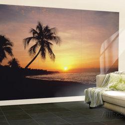 Tropical Sunset Huge Wall Mural Poster Print -