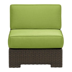 Ventura Modular Armless Chair with Sunbrella Kiwi Cushions