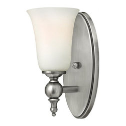 Hinkley - Hinkley Yorktown 1 Light Antique Nickel Bathroom Sconce - 4.75 in. x 11 in. - This 1 Light Bathroom Sconce is part of the Yorktown Collection and has an Antique Nickel Finish. It is Damp rated.