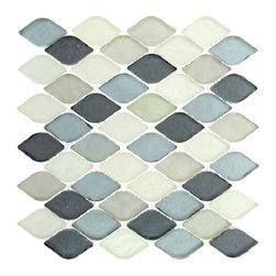 Aquatica glass tile mosaic, Grey Scale -