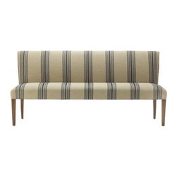 Fitzgerald Upholstered Bench, Rustic Yacht Stripe - Who doesn't love a classic stripe? I would have a hard time passing this little lady up.
