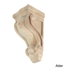 GlideRite - Hand-carved Unfinished Solid Hardwood Corbel - Enhance your cabinets or wall shelves with this ornamental hand-carved solid hardwood corbel. This corbel can be used to architecturally enhance mantels, range hoods, shelving, counter tops and more.
