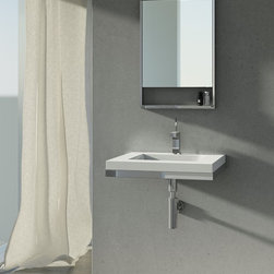 Floating Sinks - We believe true relaxation is only attained in a clutter-free environment. The WETSTYLE FLOATING SINK BRACKET SYSTEM enables WETSTYLE lavatory style sinks to be wall mounted, precluding the need for a vanity or full console. Exceptionally strong yet easy to install, this pure stainless steel system allows the sink to float free of all external distraction.