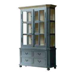 Marco Polo Imports - Pigalle Cabinet - Timeless cabinet inspired by Authentic European antiques and reproduced by seasoned artisans to capture the look of Old World craftsmanship. Every delicious detail - carving or ironwork to painting or patina - is done by hand.