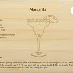 Core Bamboo Margarita Cocktail Board - This bamboo bar cutting board includes the drink recipe for a margarita. Prepare lemons, limes and other ingredients on these sturdy bamboo boards and you will wonder how you ever made your cocktails without it!