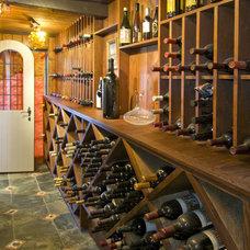 Traditional Wine Cellar by DANIEL HUNTER AIA Hunter architecture ltd.