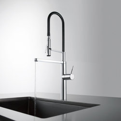 KWC ONO - KWC ONO single-lever mixer with highflex spring hose technology. Available with a thick or thin lever. Finishes: chrome, solid stainless steel.
