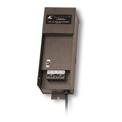 Kichler Transformer 600W Manual - Textured Architectural Bronze - Transformer 600W manual series - manual series transformers are the ideal solution when on/off switching is desired at the transformer and nowhere else. Timers and photocells are not offered as options for this unit. Important: this unit is not approved for use with fixtures placed in ponds or landscape water features. For exterior use only. Thermal cut-off on primary side. Thermal reset breaker on secondary side. with 6`, 3-wire #18-3 sjtw cord. Textured architectural bronze powder coat.