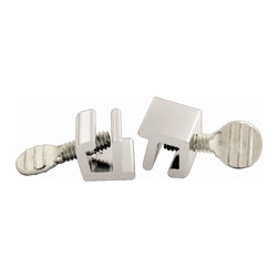 First Watch Security - Window Slide Stop - 2 Pack in Aluminum (Set of 10) - Locks window in closed or vented position. For use on sliding windows. Extruded aluminum with steel thumbscrew. Aluminum Finish