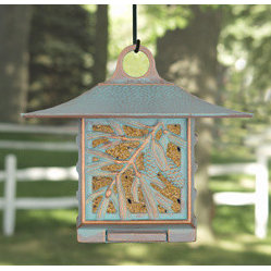 Whitehall Products LLC - Pinecone Suet Feeder - Copper Verdi - - Color: Copper Verdi