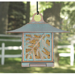 Whitehall Products LLC - Pinecone Suet Feeder - Copper Verdi - • Color: Copper Verdi