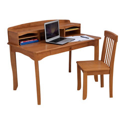 Kidkraft - KidKraft Avalon Kids Desk with Hutch and Chair in Honey set - Kidkraft - Computer Desks - 26706 - KidKraft's honey Avalon Desk with Hutch would look perfect in any child's bedroom. This desk gives kids a great place for working on homework and a perfect spot for storing pictures trophies and collectibles.
