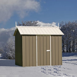 EnduraShed - EnduraShed Garden Sheds - Extreme Series - [1.0 each/each] - 8'x5' Slate Gray Snow Metal Shed -Boasting more structural integrity and a fraction of the installation time of our competitor's products, the EnduraShed Extreme Series offers the most dimensionally stable outdoor shed on the market, at the most affordable price.     Perfect for outdoor storage in climates with extreme weather conditions, the Extreme Collection offers performance peace of mind even in the iciest of conditions. Great for storing expensive snow equipment like blowers and ploughs, you can be sure that your tools will remain safe when locked up, and easily accessible when needed.      Made from high-grade, hi-tensile steel and backed by a 20 year limited manufacturer warranty, easily build a shed that lasts with the EnduraShed Compact Series.