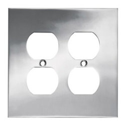 Liberty Hardware - Liberty Hardware 66890 Concave WP Collection 4.96 Inch Switch Plate - A simple change can make a huge impact on the look and feel of any room. Change out your old wall plates and give any room a brand new feel. Experience the look of a quality Liberty Hardware wall plate. Width - 4.96 Inch, Height - 4.9 Inch, Projection - 0.4 Inch, Finish - Polished Chrome, Weight - 0.59 Lbs.