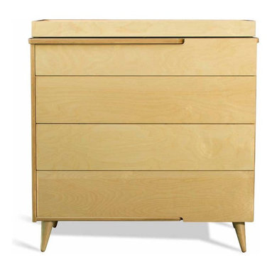 11-Ply Changing Table Dresser By True Modern - Our 11 Ply Changing Table Dresser grows with your child. Just remove the changing table tray for a more grown up look. With its turned Danish style legs and exposed plywood edges,the 11 Ply Changing Table Dresser has plenty of storage. There are cutout handles on the top and side of the top drawer and on the sides of the other drawers. The laminate tops are available in crisp white,postal blue,atomic orange and dark gray. Made of sustainable birch plywood. Tray packaged separately.