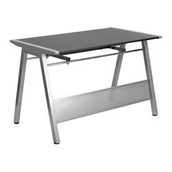 Flash Furniture - Flash Furniture Desks Computer Desks X-GG-W7382-NJ-NAN - This attractive Computer Desk provides a large work surface to allow you to use your computer and writing materials with room to spare. The frame connects with the table top and offers a modern design. The keyboard extends out far enough if you prefer to use this as a writing surface in conjunction with your laptop. [NAN-JN-2837W-GG]