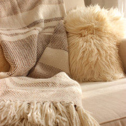 Camel Stripes Throw - The simplicity of the luxurious 'Camel Stripes Throw' brings an authentic 'naturally chic style' that makes it ideal for home décor, being able to be used as covers for chairs, beds, armchairs and sofas or paths, folders and sides of bed.