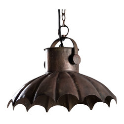 Ferrisburg Hanging Lamp - Made from Hand formed steel