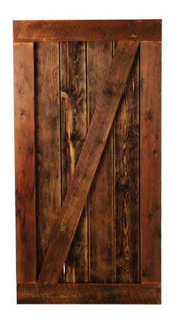 Big Sky Barn Doors - Bear Tooth Door, Finished, 38x81 - The Bear Tooth Door is our traditional Z Braze style door handcrafted from reclaimed Montana barnwood. Each Big Sky Barn Door is shipped completely assembled and ready to hang.     Due to the nature of antiqued reclaimed lumber, each door is unique in character and appearance.  Colors might vary slightly as well as wood grains, knots, nail holes, etc... Every door is handcrafted and inspected for quality assurance.    Hardware is not included.