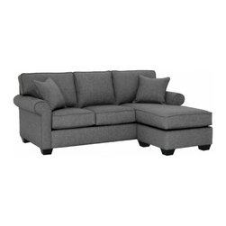 Apt2B - Lafayette Revers. Chaise Sofa, Smoke, 85x38x32 - With a simple, classic style that goes with everything and a cozy design that feels relaxed and homey, this sofa was designed to fit in to your life. The chaise ottoman is the perfect place to kick back and can be moved to the right or left. The textured, neutral fabric upholstery is simple and sophisticated for easy decorating.