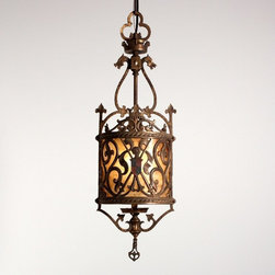 Mediterranean chandeliers houzz for Mediterranean lighting fixtures