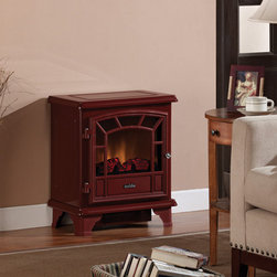 Duraflame - Duraflame 550 Cranberry Electric Fireplace Stove with Remote Control - DFS-550-8 - One of our best selling stoves, the Duraflame DFS-550CRN Cranberry Electric Fireplace Stove with Remote Control is an attractive and energy efficient way to heat rooms without relying on the furnace to warm the entire house during the cold winter months. The 1500W fan-forced heater quietly produces enough heat to warm an area of up to 400 square feet.