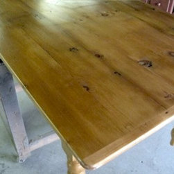 Cottage Style Pine Farm House Table - Made by www.ecustomfinishes.com