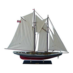 """Handcrafted Nautical Decor - Bluenose 2 Limited 50"""" - Wood Sailboat Model - Not a model ship kit.."""