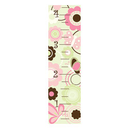 "WallPops - Butterfly Garden Growth Chart Wall Decal - This beautiful Butterfly Garden growth chart wall decal is a precious way to measure the years. Designed in soft pinks, greens, and brown, and featuring a blossoming garden of butterflies and flowers, this peel & stick growth chart is adorable! Make keeping track of new heights fun with this precious peel & stick chart. Butterfly Garden Growth Charts contain a single 48"" x 13"" sheet."