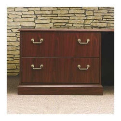 "High Point Furniture - Bedford 72"" W Lateral File Credenza - Bedford brings old word excellence to the modern office with a complete collection of office, conference and reception solutions. It's executive furniture with the influence of generations. Features: -Two file drawers .-Side locks .-Use with bridge and single pedestal desks .-Overall Dimensions: 29"" H x 72"" W x 24"" D . Product Specifications: -All panels are 5-ply construction with commercial-grade coreboard center and two veneer sheets top and bottom .-Veneer is cross grained for strength. .-Top is 1-3/16"" thick with solid hardwood edges and properly backed .-Surfaced in a high-gloss high pressure laminate .-Drawer fronts are constructed of 3/4"" thick core surfaced in on both sides with melamine and edge banded as required .-Drawer sides are 1/2"" thick, grain printed in an oak finish .-Drawer bottoms are 1/8"" thick oak-grain hardboard ."