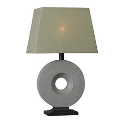 Kenroy Home - Kenroy 32186CON Neolith Outdoor Table Lamp - Sculptural and dynamic, Neolith's modern Concrete finish and 'artful artifact' attitude brings a powerful design element to any outdoor living space.