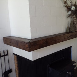 Distressed Beam Mantel Shelves -