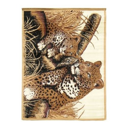 DonnieAnn AFTGC African Adventure Area Rug - The animal lover in you won't be able to pass up the DonnieAnn AFTGC African Adventure Area Rug for your home. An image of a mother cheetah protecting her cub on the African plains adorns in this exotic and beautiful rug. Featuring 100% durable polypropylene material and a pile height of 0.15 inches, its comfortable and long-lasting for any household. Golden and tan tones enhance the imaging and its machine-woven fibers are fray-free.About DonnieAnnBased in California, DonnieAnn's main concern is the idea of home furnishings being exceptional in comfort, style, and quality. As a global company, DonnieAnn also prides itself on offering the best value to customers. While home, sweet home is one of their beliefs, they also include safe and affordable when it comes to home goods.