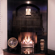 Contemporary Indoor Fireplaces by Morse Remodeling, Inc. and Custom Homes