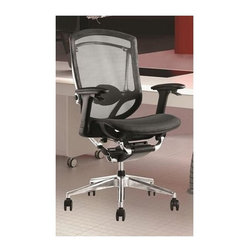 Fine Mod Imports - Ergo Fit Office Chair - Contemporary style. Unique mesh seat and back. Fully adjustable arms. Adjustable seat depth and lumbar support. Tilt lock controlled under the arms. Height adjustment controlled under the arms. Tilt tension. Highly ergonomic with sustainable design. Warranty: One year. Black color. Assembly required. Seat height: 17 in. to 23 in.. Overall: 20 in. W x 22 in. D x 40 in. to 46 in. H (70 lbs.)The Ergo Fit chair comes with all the features that office chair should come with its extremely sitter-friendly and versatile in fulfilling numerous roles throughout the office.