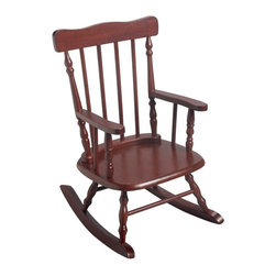 Gift Mark - Gift Mark Childrens 3700 Rocking Chair - Cherry Multicolor - 3700C - Shop for Childrens Rocking Chairs from Hayneedle.com! The Gift Mark Childrens 3700 Rocking Chair - Cherry is a timeless addition to any child's room. Constructed from durable solid wood this cherry finished rocking chair features a smooth surface with comfortable armrests for children. The smooth design complements the subtly curved rockers which are safely designed to prevent tip-over. This chair stands 27.5 inches tall and is intended for children ages three to six.Please note this product does not ship to Pennsylvania.