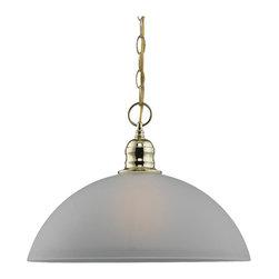 Sea Gull Lighting - Sea Gull Lighting 65225-02 Evansville Polished Brass Pendant - Sea Gull Lighting 65225-02 Evansville Polished Brass Pendant