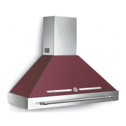 "Bertazzoni - Heritage K48HERX 48"" Wall Mount Chimney Range Hood with 600 CFM Internal Blower - Matching the 48 Heritage design this hood ventilation system with mesh filters has a base assembly in stainless steel and canopy in matching color There are three settings for different extraction levels Two halogen lights give bright worktop illumin..."