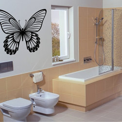 StickONmania - Butterfly Design #24 Sticker - A cool vinyl decal wall art decoration for your home  Decorate your home with original vinyl decals made to order in our shop located in the USA. We only use the best equipment and materials to guarantee the everlasting quality of each vinyl sticker. Our original wall art design stickers are easy to apply on most flat surfaces, including slightly textured walls, windows, mirrors, or any smooth surface. Some wall decals may come in multiple pieces due to the size of the design, different sizes of most of our vinyl stickers are available, please message us for a quote. Interior wall decor stickers come with a MATTE finish that is easier to remove from painted surfaces but Exterior stickers for cars,  bathrooms and refrigerators come with a stickier GLOSSY finish that can also be used for exterior purposes. We DO NOT recommend using glossy finish stickers on walls. All of our Vinyl wall decals are removable but not re-positionable, simply peel and stick, no glue or chemicals needed. Our decals always come with instructions and if you order from Houzz we will always add a small thank you gift.