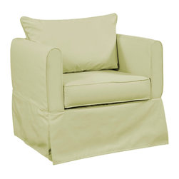 Howard Elliott - Starboard Willow Alexandria Chair - Our Alexandria Chair is full of comfort and style. It features slipcover benefits for easy care and quick updating. Assembly and disassembly is quick and hassle free. This Starboard Willow piece is 100% solution dyed acrylic finished in a soft willow yellow-green. 31 in. W x 28 in. D x 27 in. H