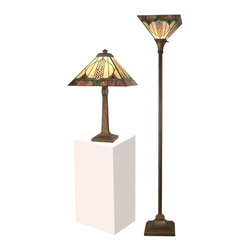 Dale Tiffany - Pair Dale Tiffany Lamps Table Lamp Floor - Product Details