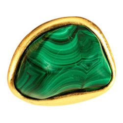 Malachite Pull, Medium - These are the most amazing drawer pulls. Add them to any old dresser ...