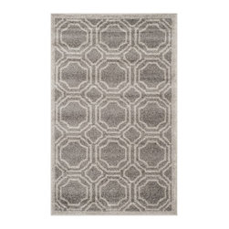 Safavieh - Safavieh Amherst Indoor/ Outdoor Grey/ Light Grey Rug (2'6 x 4') - Perfect for any backyard, patio, deck or along the pool, this rug is great for outdoor use as well as any indoor use that requires an easy to maintain rug. Safavieh's Amherst collection was created for today's indoor/outdoor lifestyle.