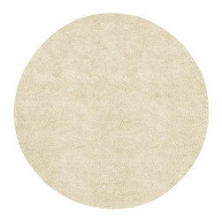 Surya - Aros White Round Shag Rug - Bring some novelty and elegance to your home decor with this amazing Aros White Round Shag Rug, which offers maximum softness and durability. This hand woven rug features 100% New Zealand felted wool that makes it durable and soft. Its rich look, texture, and dense quality make the perfect focal point for any room. Create maximum comfort in your room with a soft and elegant floorcover in white.